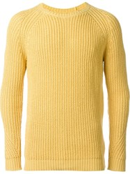 Folk 'Direction' Chunky Knit Jumper Yellow And Orange