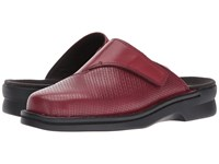 Clarks Patty Tayna Red Leather Clog Shoes
