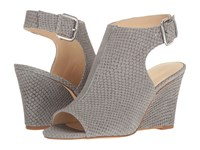 Nine West Gorana Grey Nubuck Women's Wedge Shoes Gray