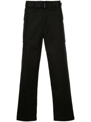 Hysteric Glamour Wide Leg Cargo Trousers Cotton Black
