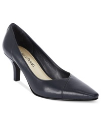 Easy Street Shoes Easy Street Chiffon Pumps Women's Shoes Navy