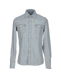 Care Label Denim Shirts Blue