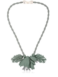 Ek Thongprasert Flowers Silicone Necklace Grey