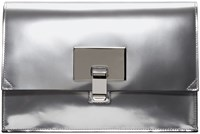 Proenza Schouler Silver Mirrored Small Lunch Bag Clutch