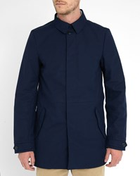 Scotch And Soda Blue Mac Cotton Trench Coat