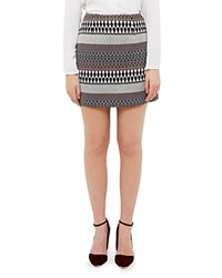 Ted Baker Metallic Jacquard Mini Skirt Blue