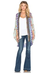 Camilla Open Front Cardigan Purple