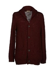 Nudie Jeans Co Knitwear Cardigans Men Maroon