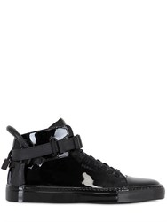 Buscemi Clip Patent Leather High Top Sneakers
