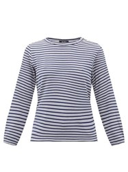 A.P.C. Sybille Striped Jersey Long Sleeve T Shirt Navy Multi