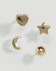 Pieces Hinna Stars And Moons Earrings Gold