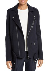 Theory Women's Tralsmin Wool And Cashmere Moto Jacket Nocturne