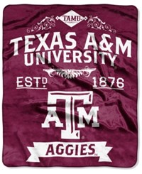 Northwest Company Texas A And M Aggies Raschel Rebel Throw Blanket Red