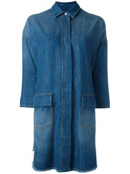 Twin Set Denim Shirt Dress Blue