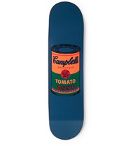 The Skateroom Andy Warhol Printed Wooden Skateboard Blue