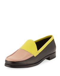 Pierre Hardy Colorblock Leather Loafer Yellow