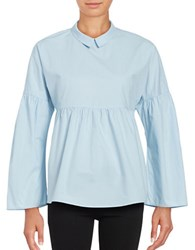 Vero Moda Long Sleeve Empire Waist Collared Shirt Cashmere Blue