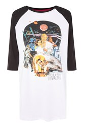 Topshop Star Wars Raglan T Shirt Charcoal
