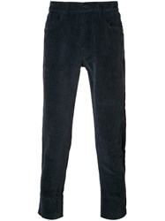 Marni Ribbed Trousers Blue