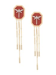Anapsara Dragonfly Earrings Yellow Gold