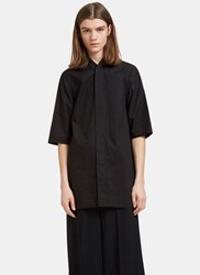 Rick Owens Oversized Faun Shirt Black