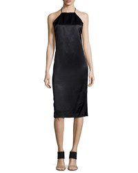 Edun Satin T Back Halter Dress Women's