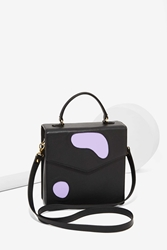Nasty Gal Welcome Companions Spot Check Leather Crossbody Satchel