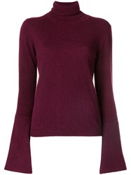 Antonia Zander Turtleneck Jumper Pink And Purple