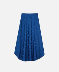 Stella Mccartney Blue Horses Jacquard Midi Skirt