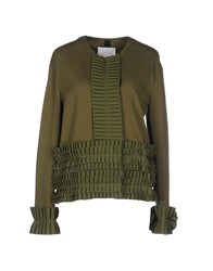 De' Hart Topwear Sweatshirts Women Military Green