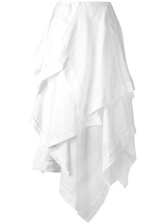J.W.Anderson Ruffled Layer Maxi Skirt White