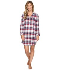 Jockey Flannel Plaid Sleepshirt Holiday Tartan Women's Pajama Red