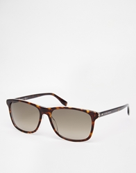 Hugo Boss Wayfarer Style Sunglasses Brown