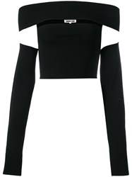 Mcq By Alexander Mcqueen Cut Out Cropped Top Black