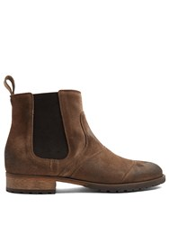 Belstaff Lancaster Suede Boots Light Brown