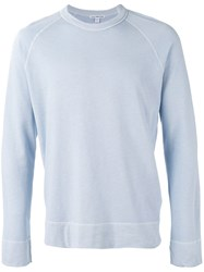 James Perse Raglan Sleeves Sweatshirt Blue