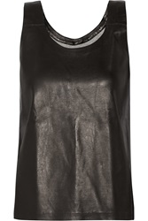 Mm6 Maison Margiela Leather Tank Black