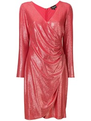 Emporio Armani Abito Wrap Dress Red