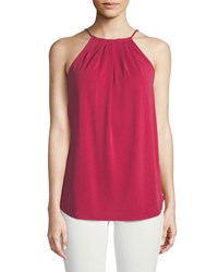 Casual Couture Gathered Halter Neck Blouse Pink