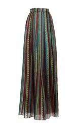 Holly Fulton High Waisted Printed Maxi Skirt Multi