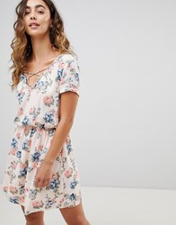 Pepe Jeans Deborah Floral Print Mini Dress White