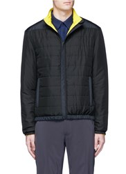 Aztech Mountain 'Hayden's Peak' Reversible Puffer Jacket Black Yellow