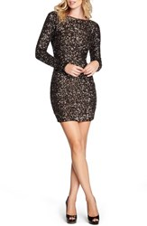 Dress The Population Women's 'Lola' Sequin Body Con Anitque Gold