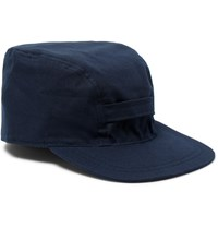 Beams Plus Cotton Blend Canvas Cap Blue