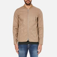 Folk Men's Zipped Bomber Jacket Taupe