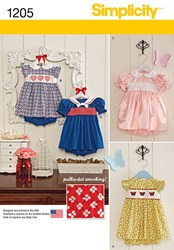 Simplicity Children's Dress Sewing Pattern 1205