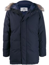 Pyrenex Raccoon Trim Parka Blue