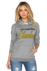 Junk Food Steelers Sunday Hoodie Gray