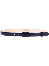 Maison Martin Margiela Thin Leather Belt Pink And Purple
