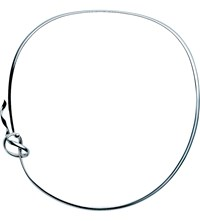 Georg Jensen Forget Me Knot Sterling Silver Neck Ring